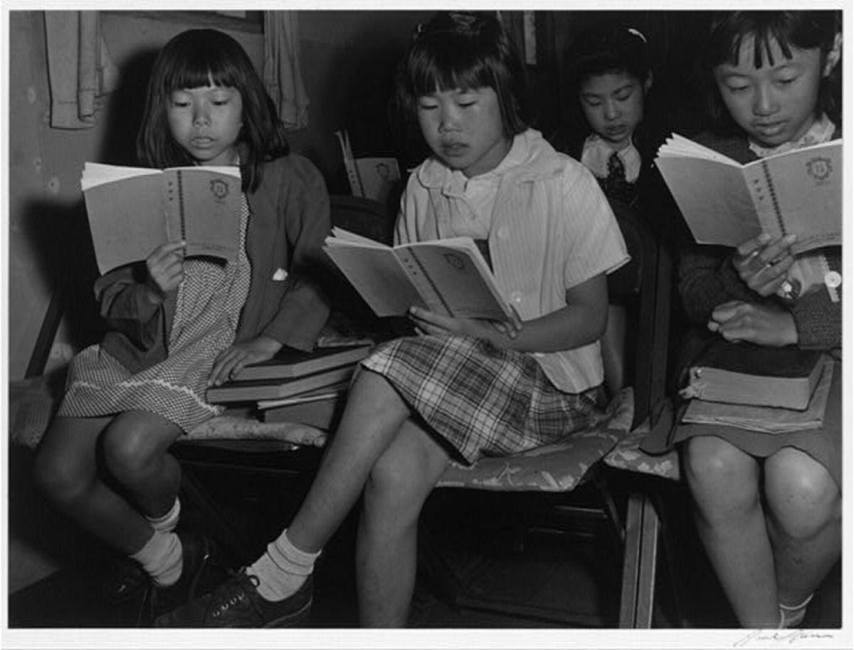 Sunday School at Manzanar