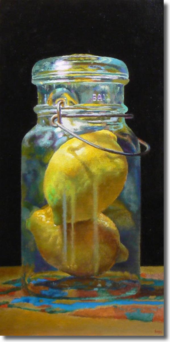 Oil on Linen (2009) Double Lemon- Jeffrey Hayes