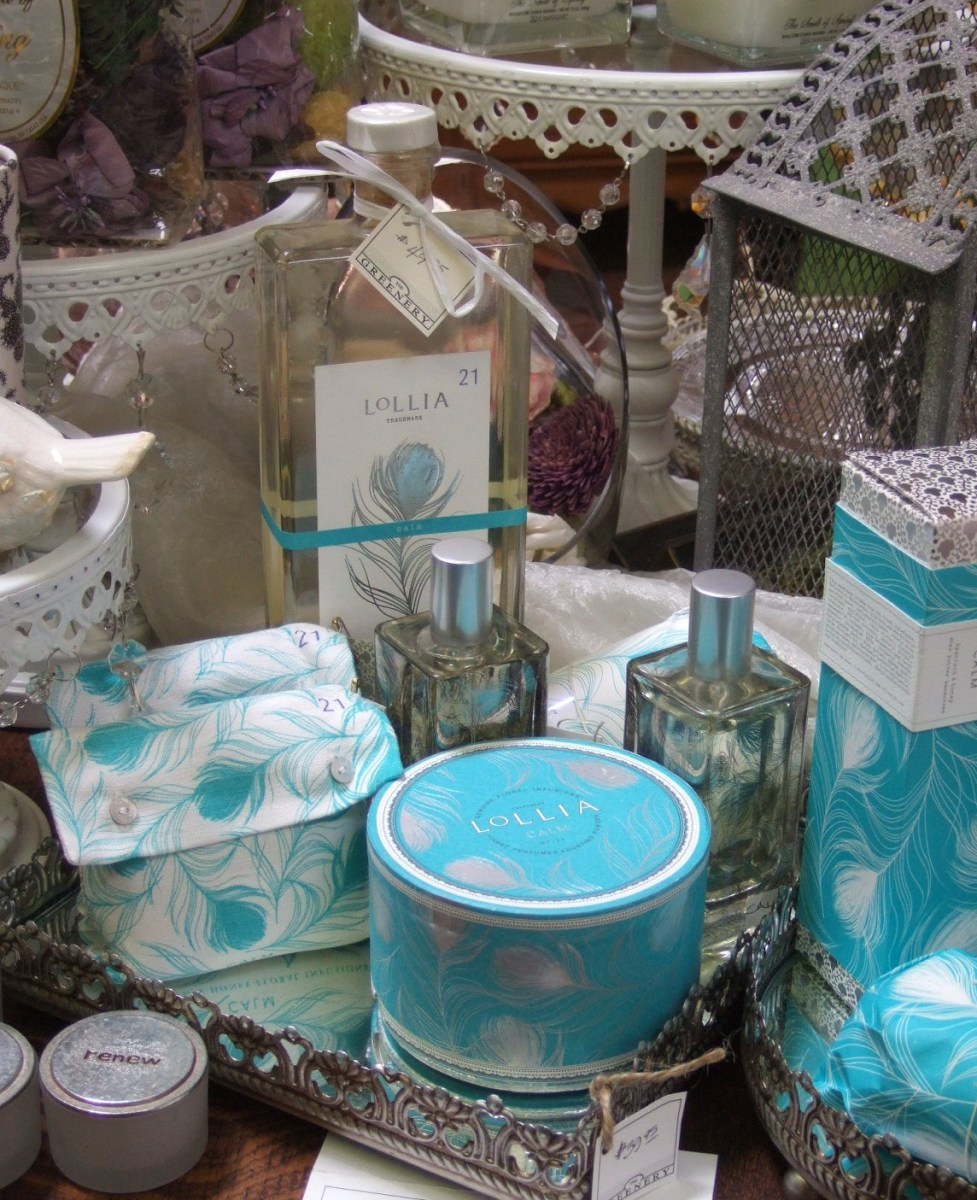 have a matching perfume, shower gel, body cream and body powder all made at home