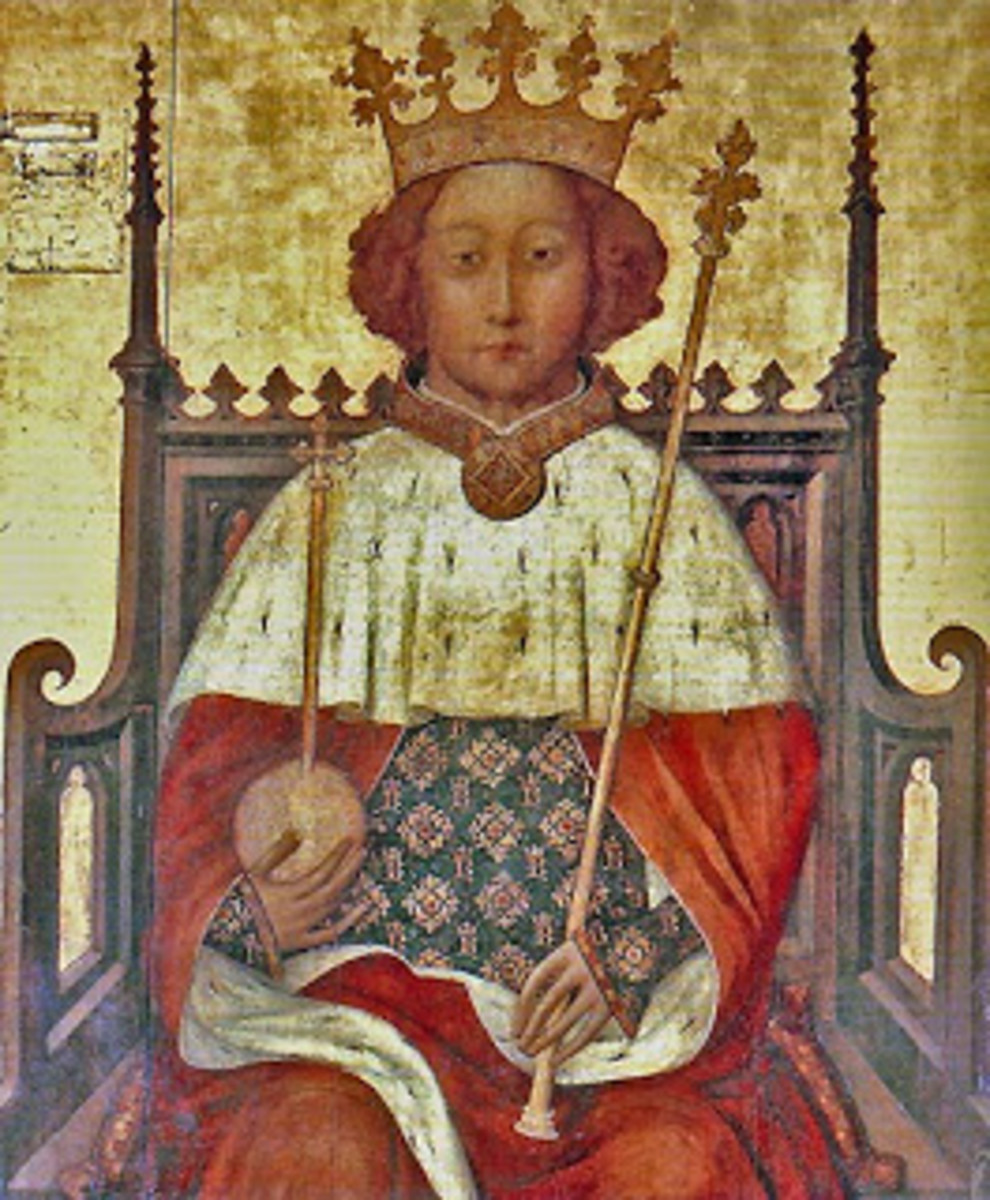 Young Richard II at his coronation. So followed 100 years of war...