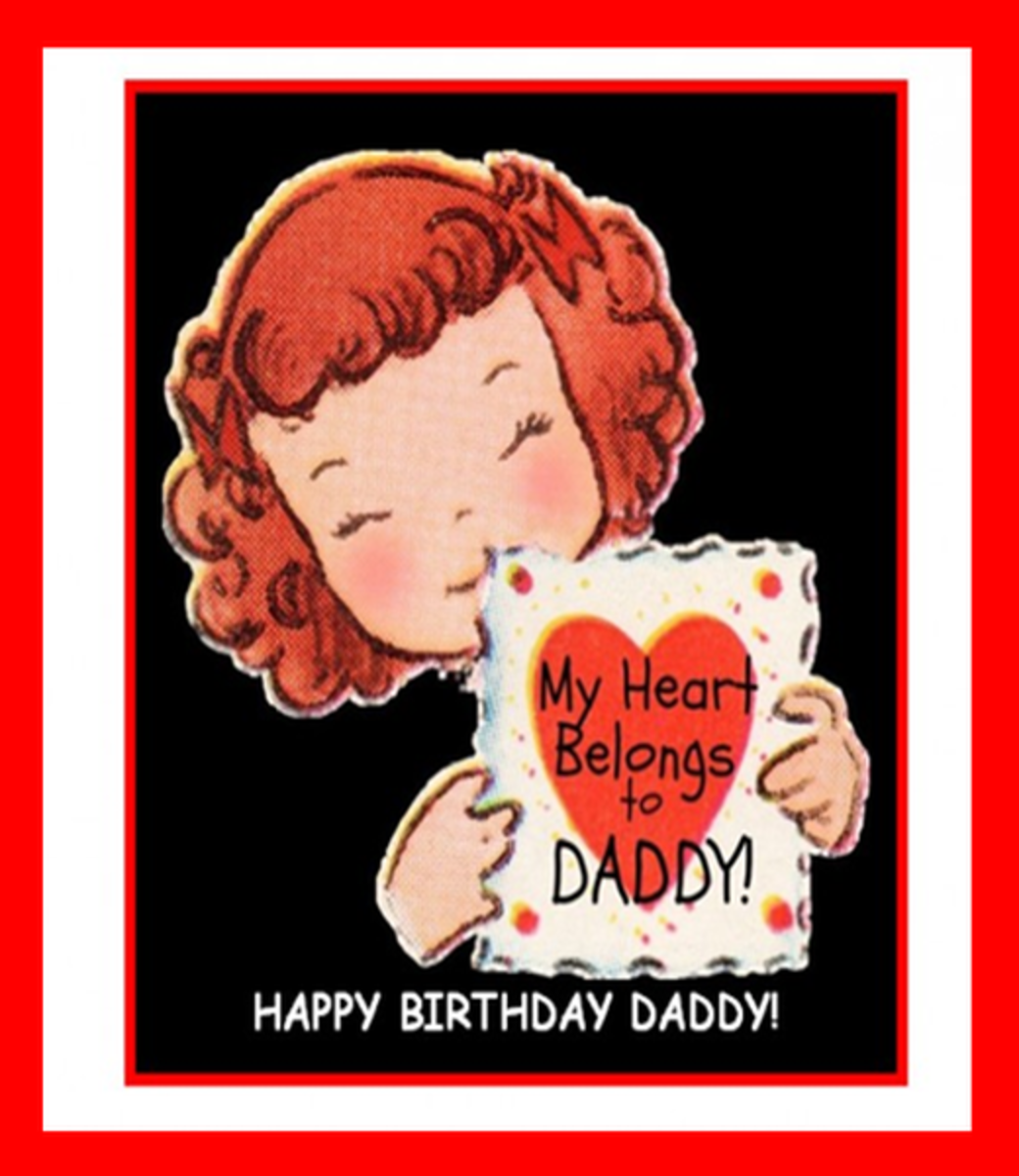 E Birthday Card from Girl to Father
