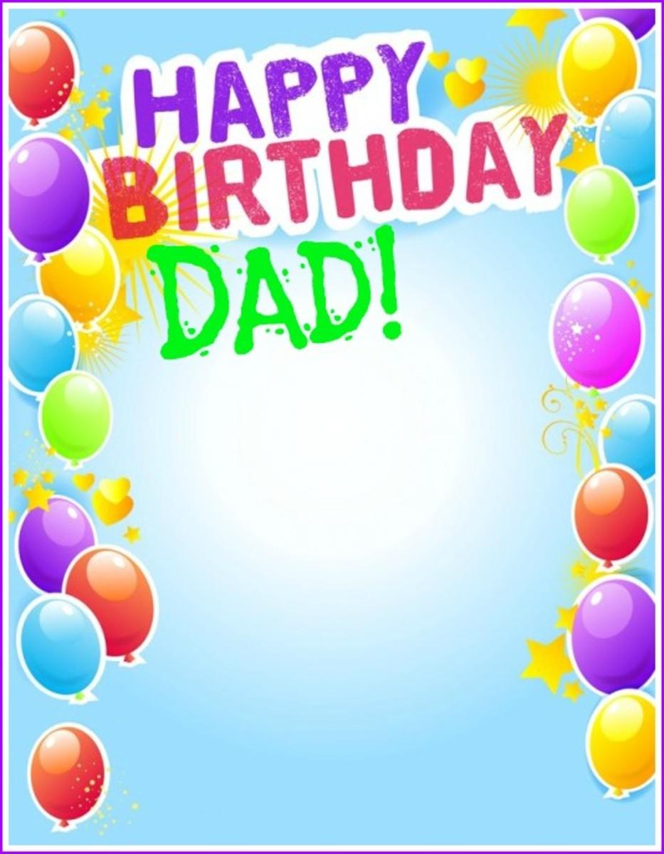 Dad Birthday Card Template