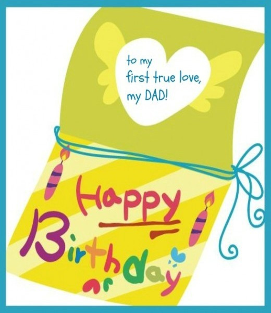 E Birthday Card from Daughter to Father