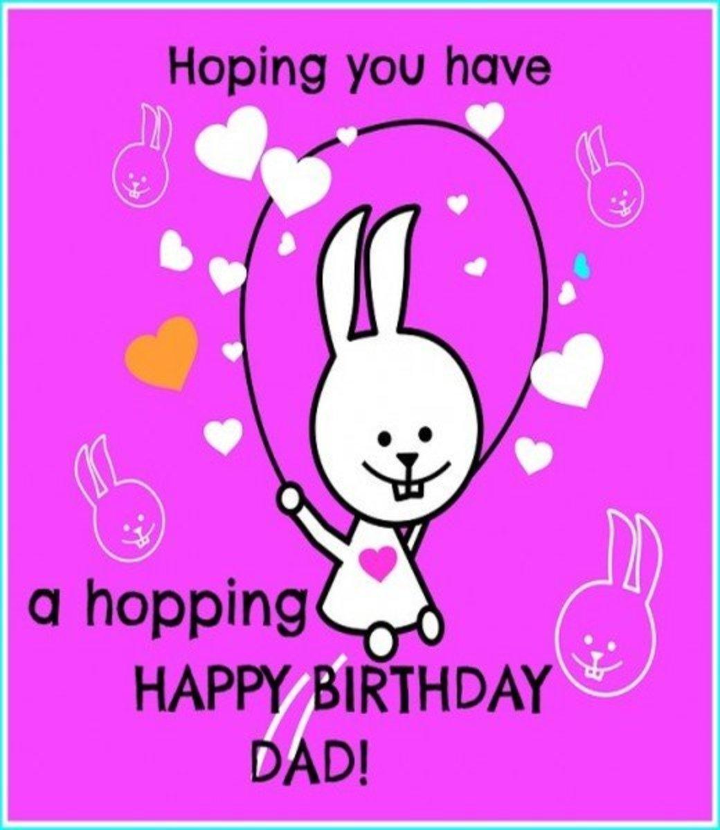 Happy Birthday Dad Rabbit ECard