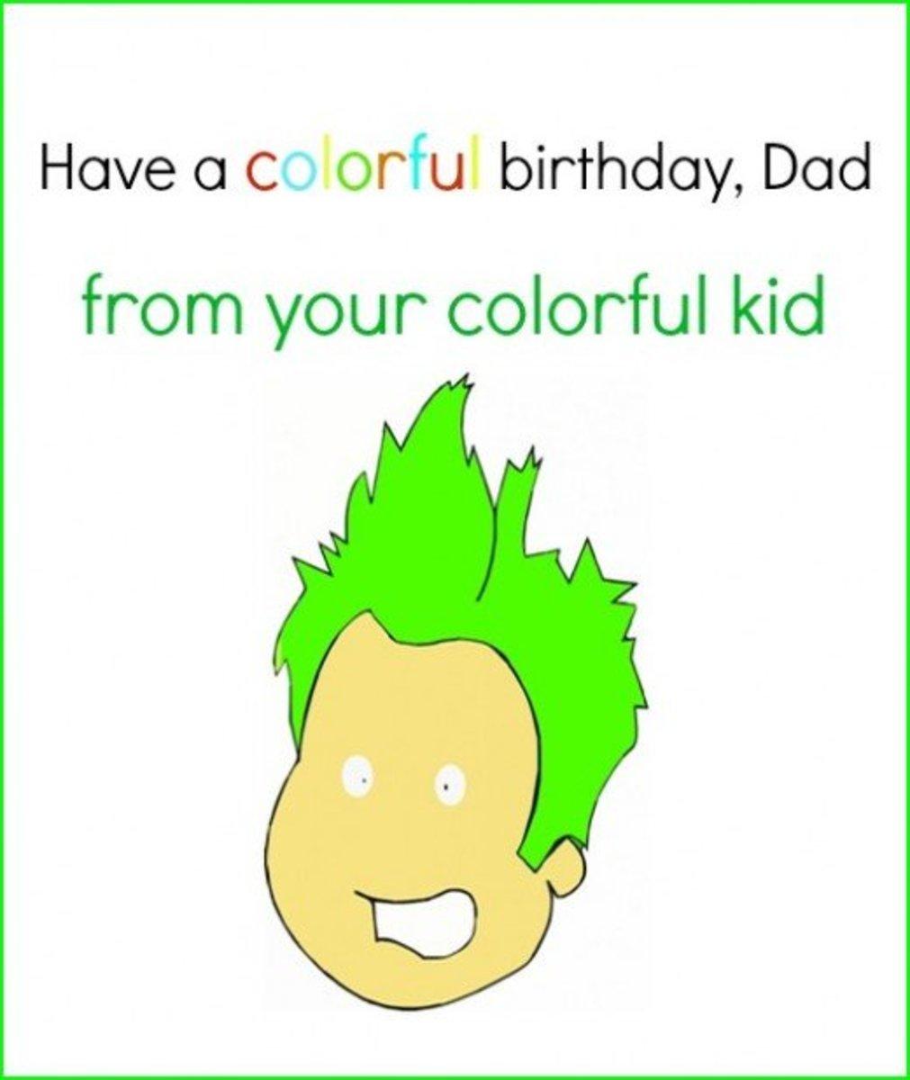 Inside Happy Birthday Dad Greeting