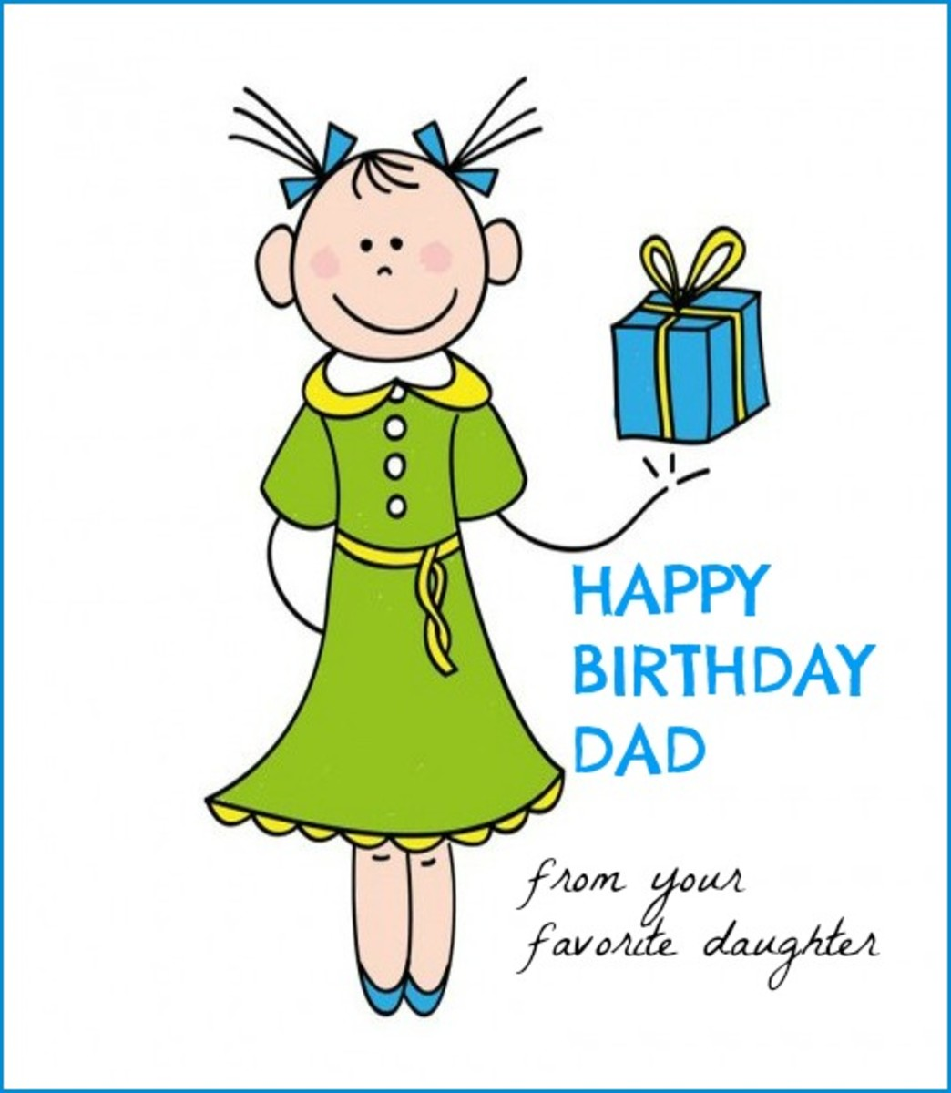 Happy Birthday Card For Dad From Daughter Happy Birthday Bestest