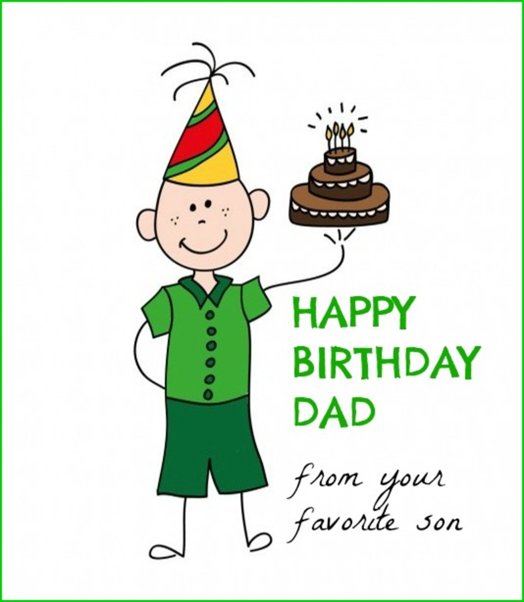 E Birthday Card from Son to Dad