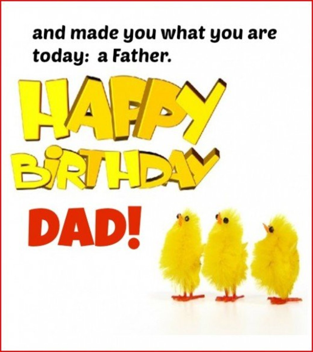 Inside Birthday Card for a Father