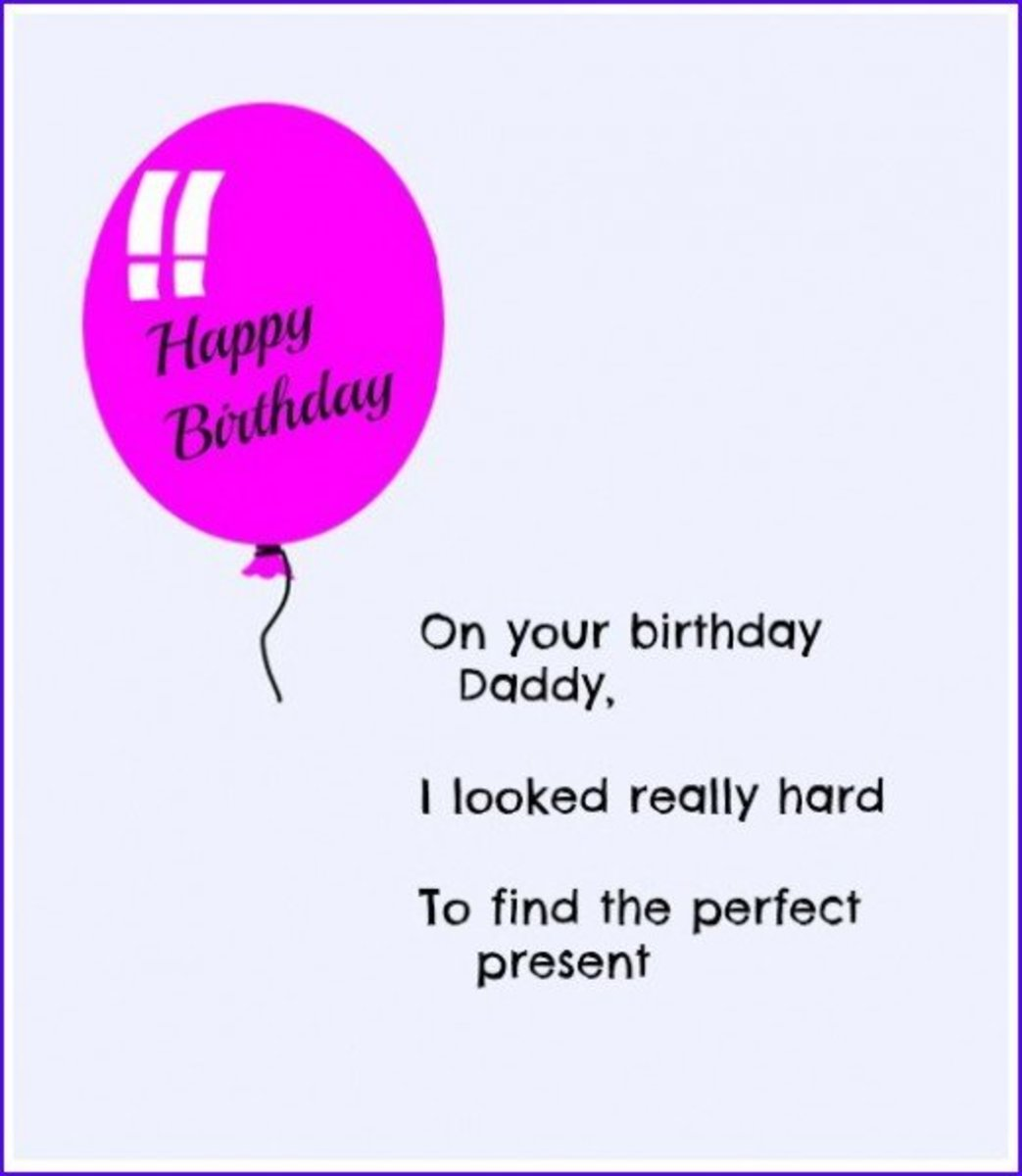 Birthday Poem for Dad from Child