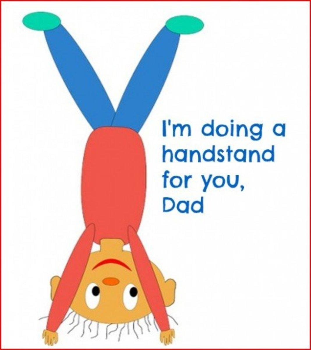 Funny Happy Birthday Dad Greeting Card