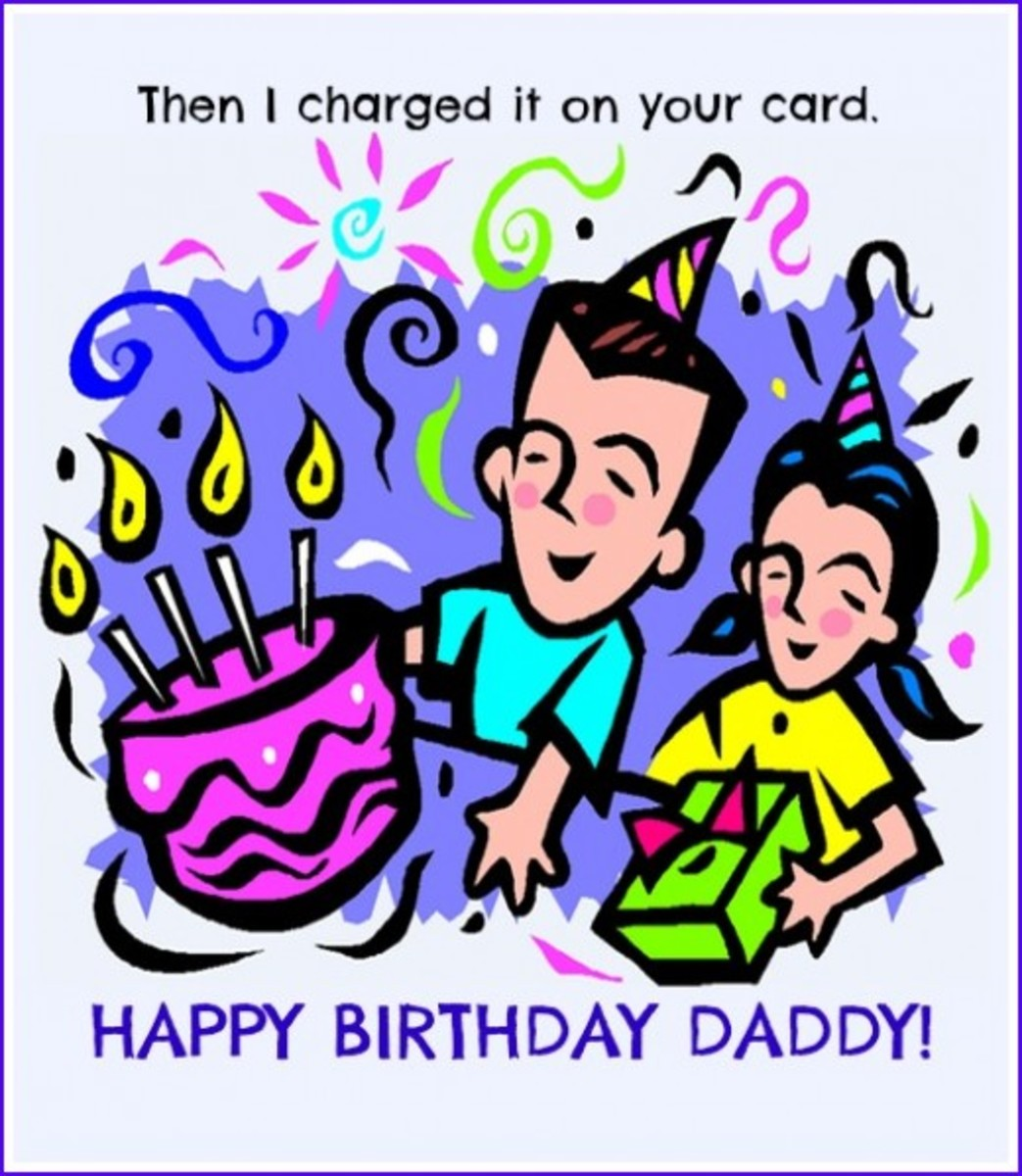 Inside Card Birthday Poem for Dad from Child
