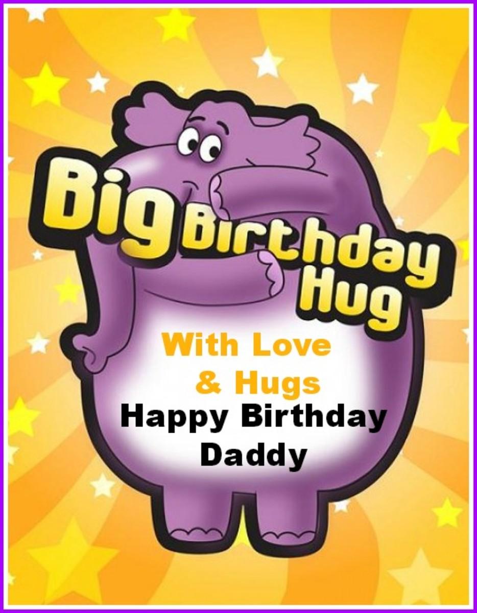 Birthday Hug ECard for Daddy