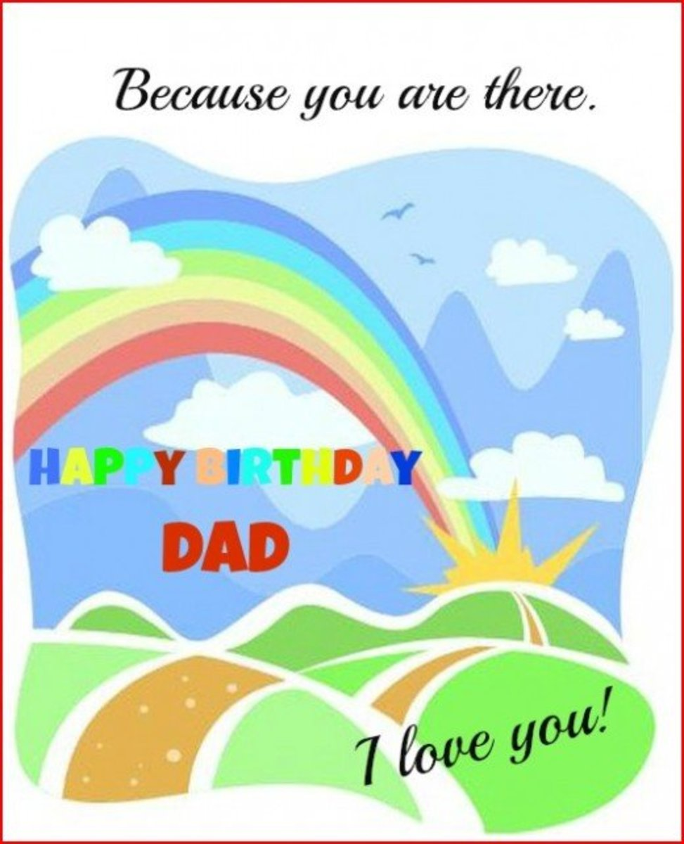 Inside Birthday Greeting for Father