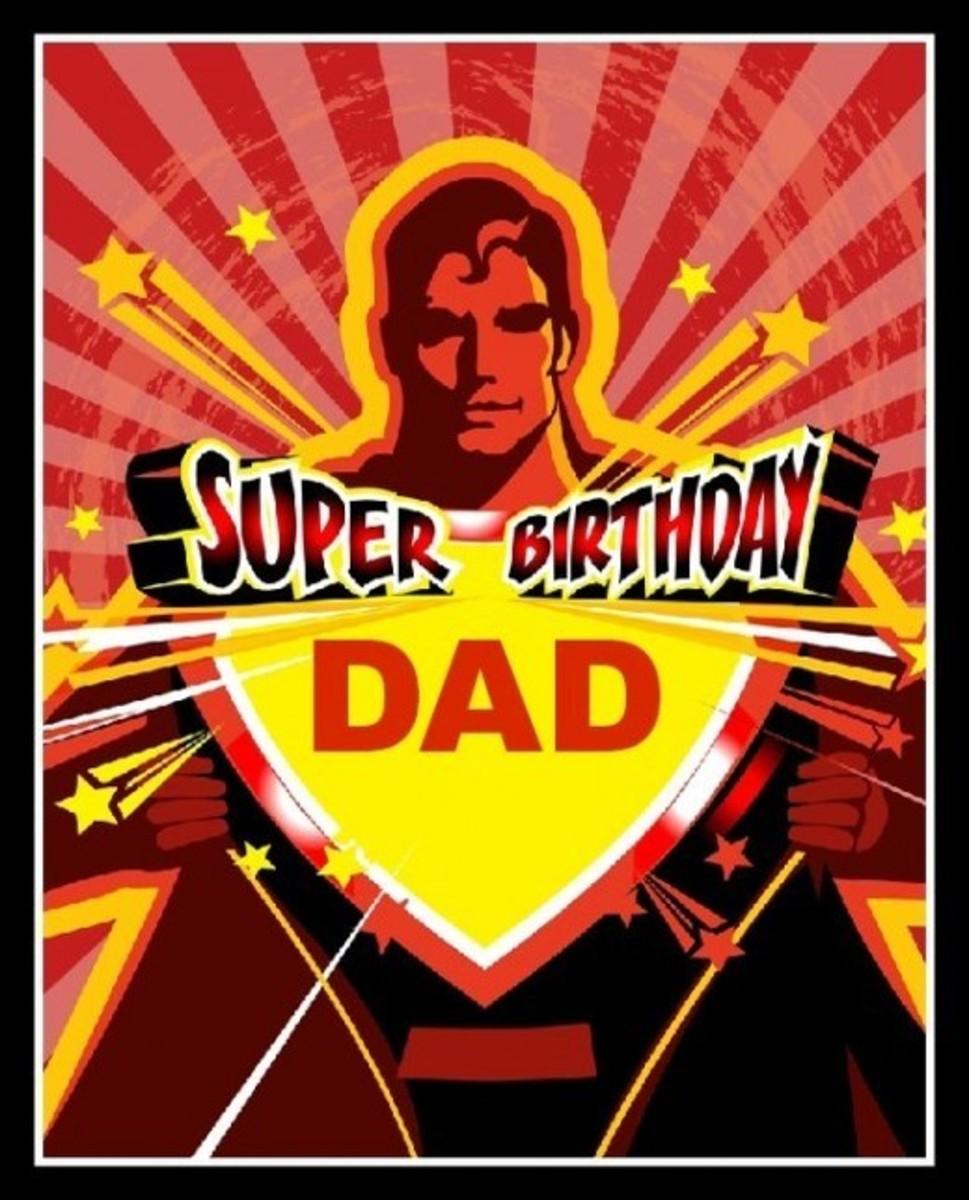 Super Birthday Dad Greetings