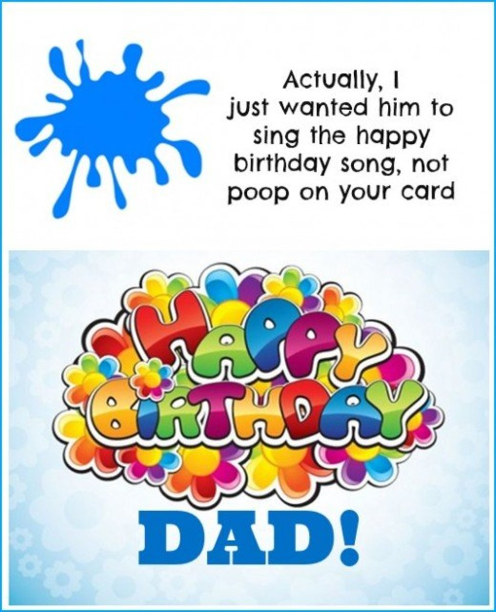 Inside Birthday Card for Father