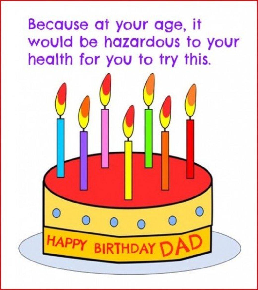 Inside Funny Happy Birthday Dad Greeting Card