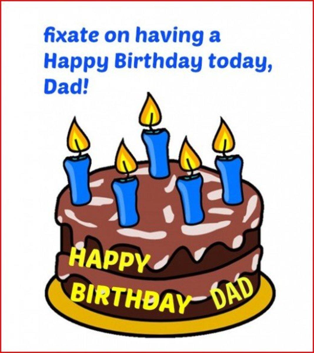 Inside Happy Birthday Father Card
