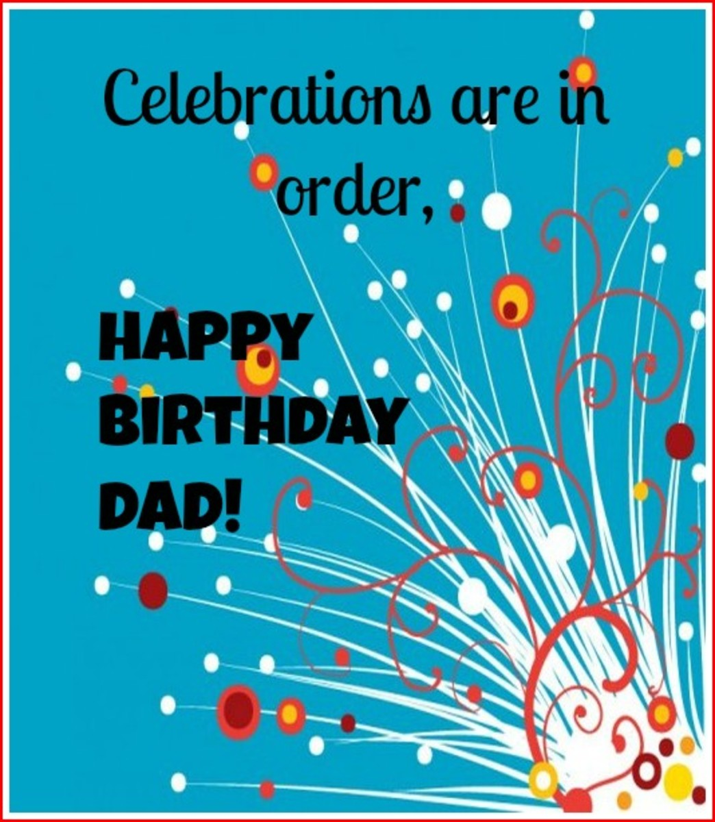 Email Birthday Message for Dad
