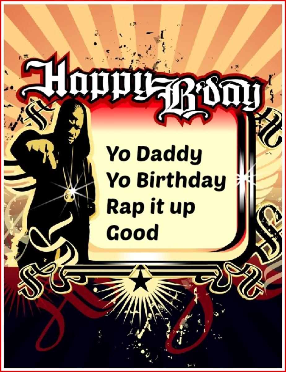 Rap Birthday Card for Dad