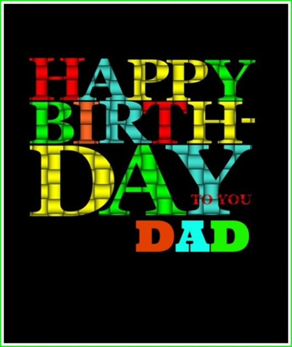 Happy Birthday Dad Greeting