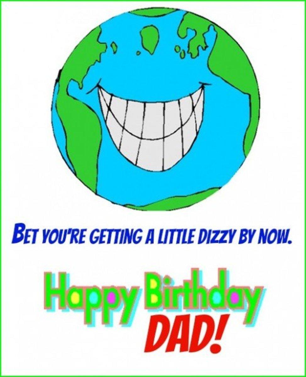 Inside Humorous Dad Birthday Greeting