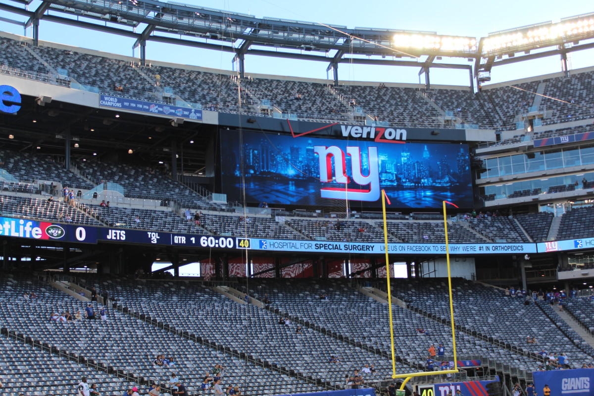 New York Giants at the MetLife Stadium, New Jersey, August 24, 2013.
