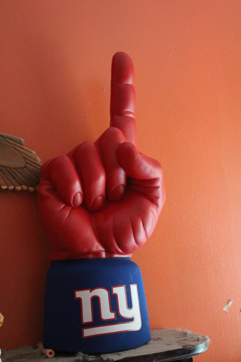 Foam Finger To Cheer For the NY Giants at Met Life Stadium!