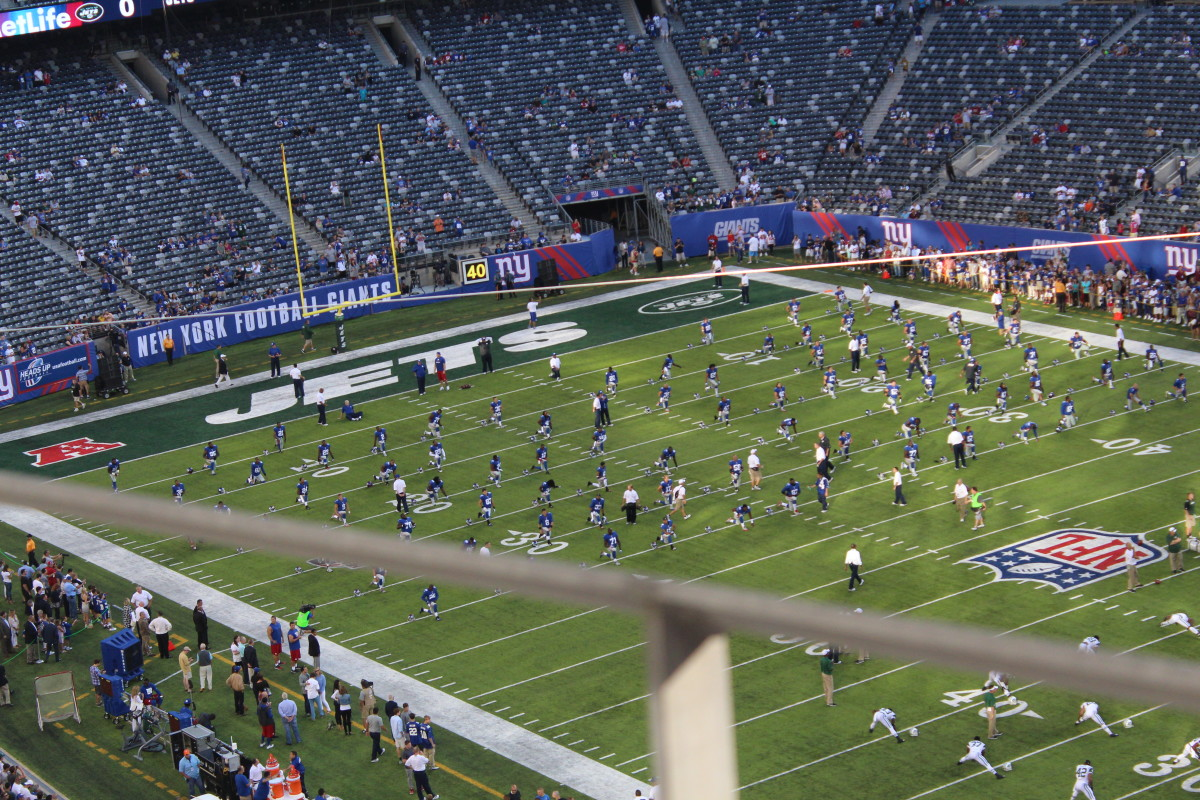 The Giants vs the Jets, August 24, 2013.