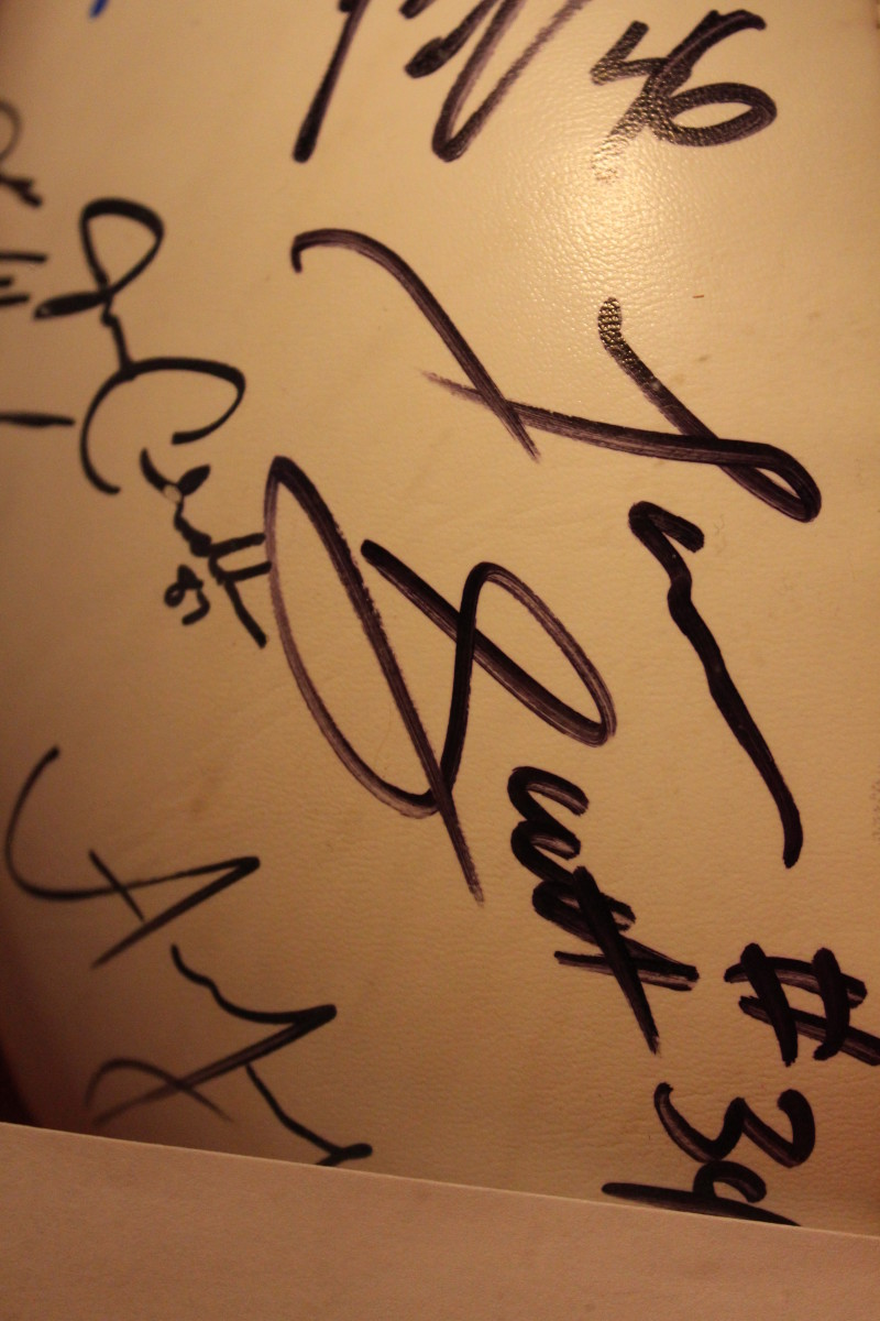 Autographs from many of the New York Giants players - August 25, 2013.