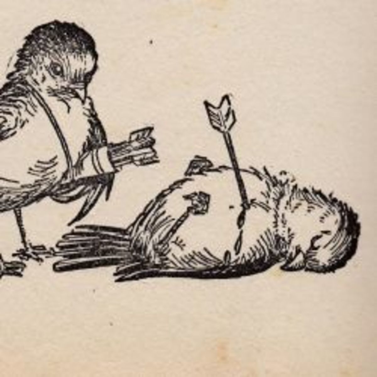 An illustration from my Great Aunt's nursery rhyme book belonging to her son, Ainsley.