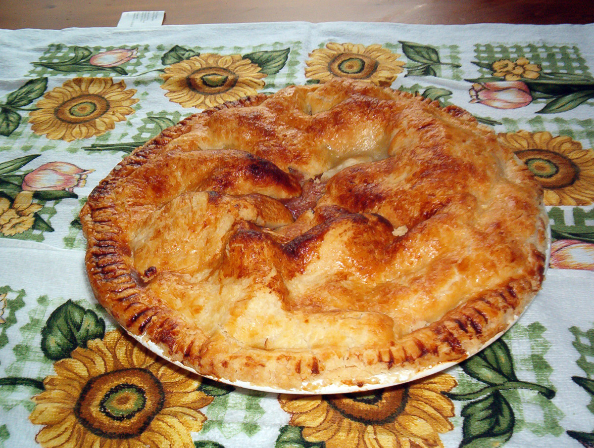 Apple pie-- we must have apple pie in the fall. This one was baked by my young son & budding chef.