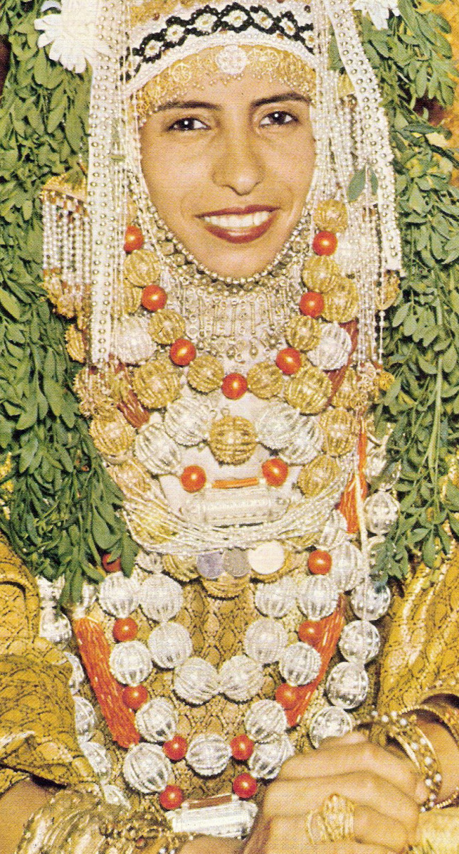 Yemenite Jewish Bride's chains and necklaces