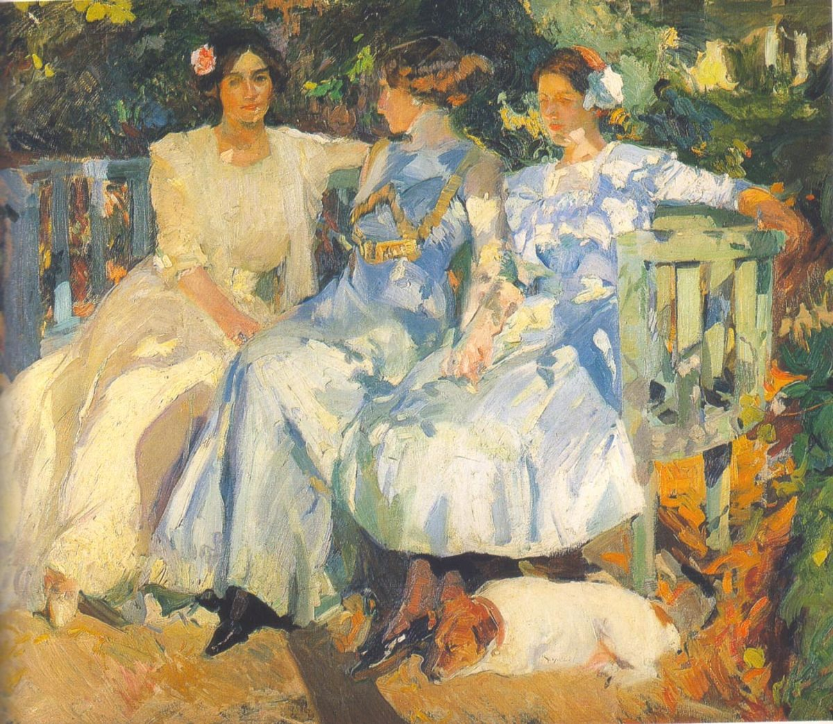 """My Wife and Daughters in the Garden"" by Joaquin Sorolla [Public domain],"