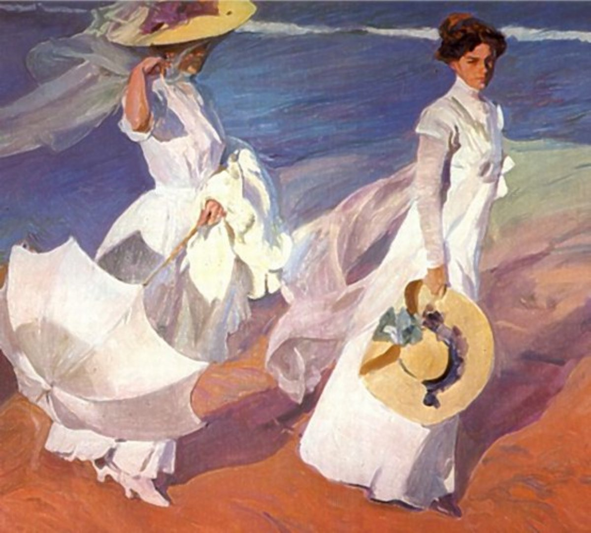 Walk on the Beach by Joaqun Sorolla [Public domain] Sorolla Museum