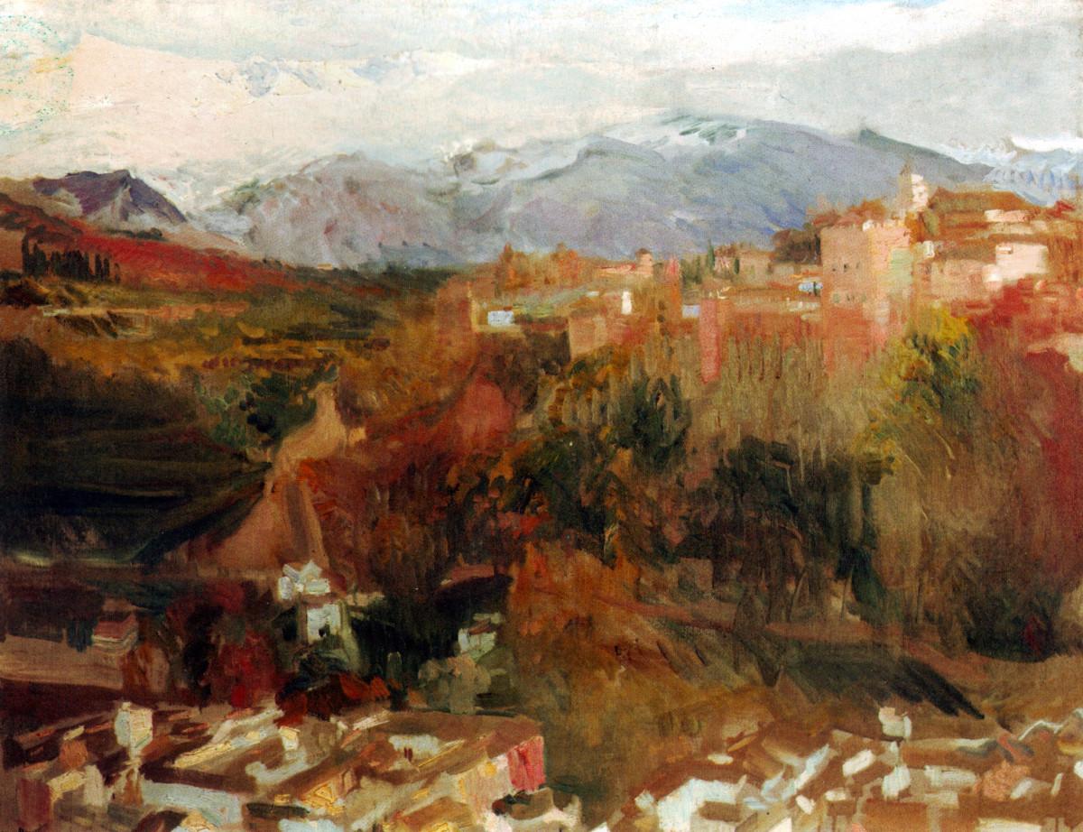 Alhambra and Granada by Joaquin Sorolla [Public domain]