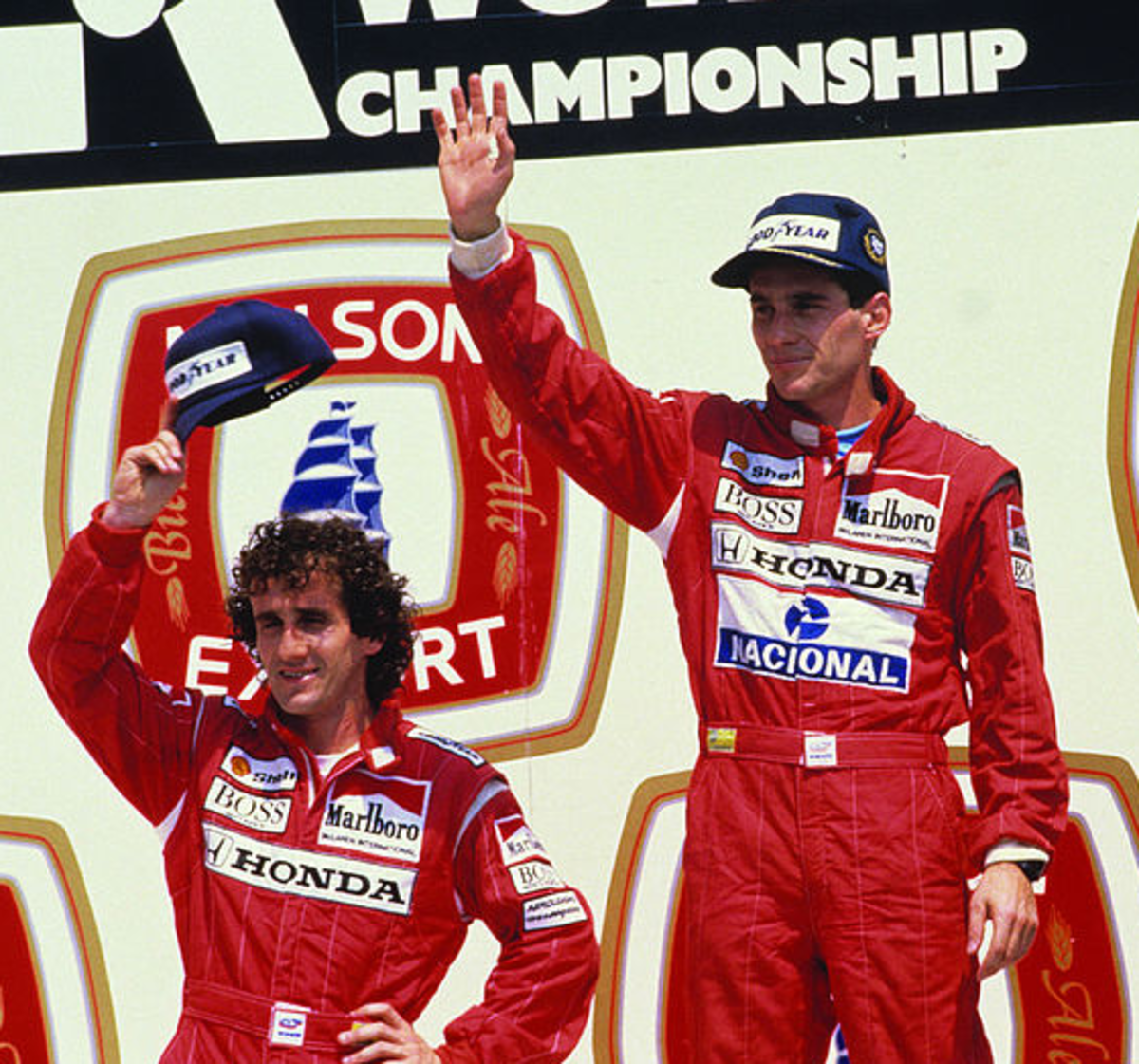 Both drivers on the podium