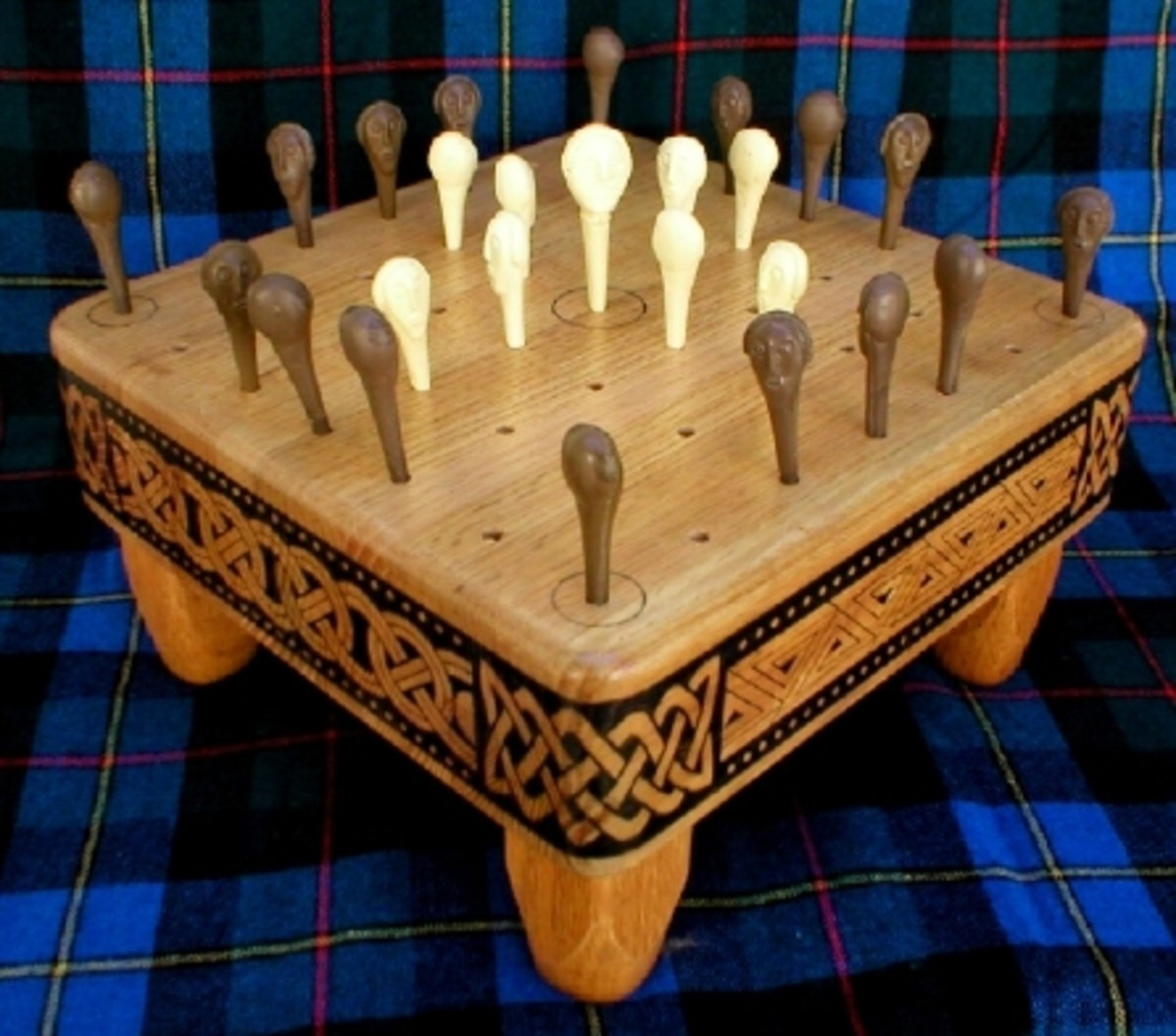 The game of Fidchell -  more a version of Nine Men's Morris than chess