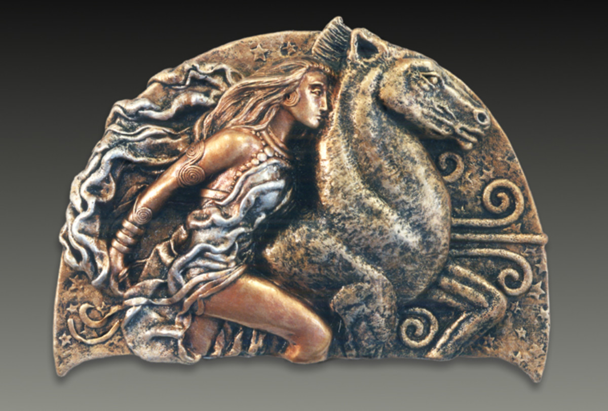 A realistic likeness in a 'frieze' of Epona, the Celtic horse goddess.