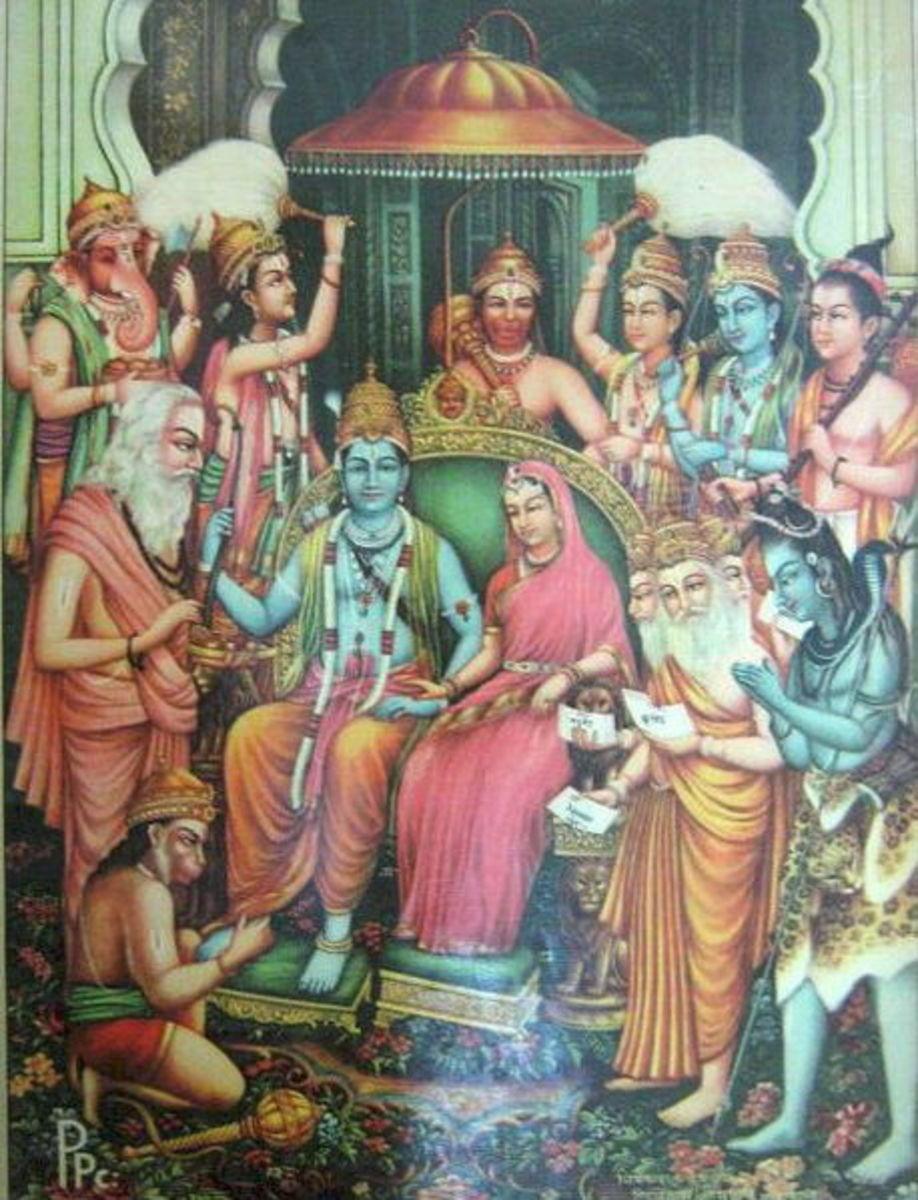 Rama Sita Coronation