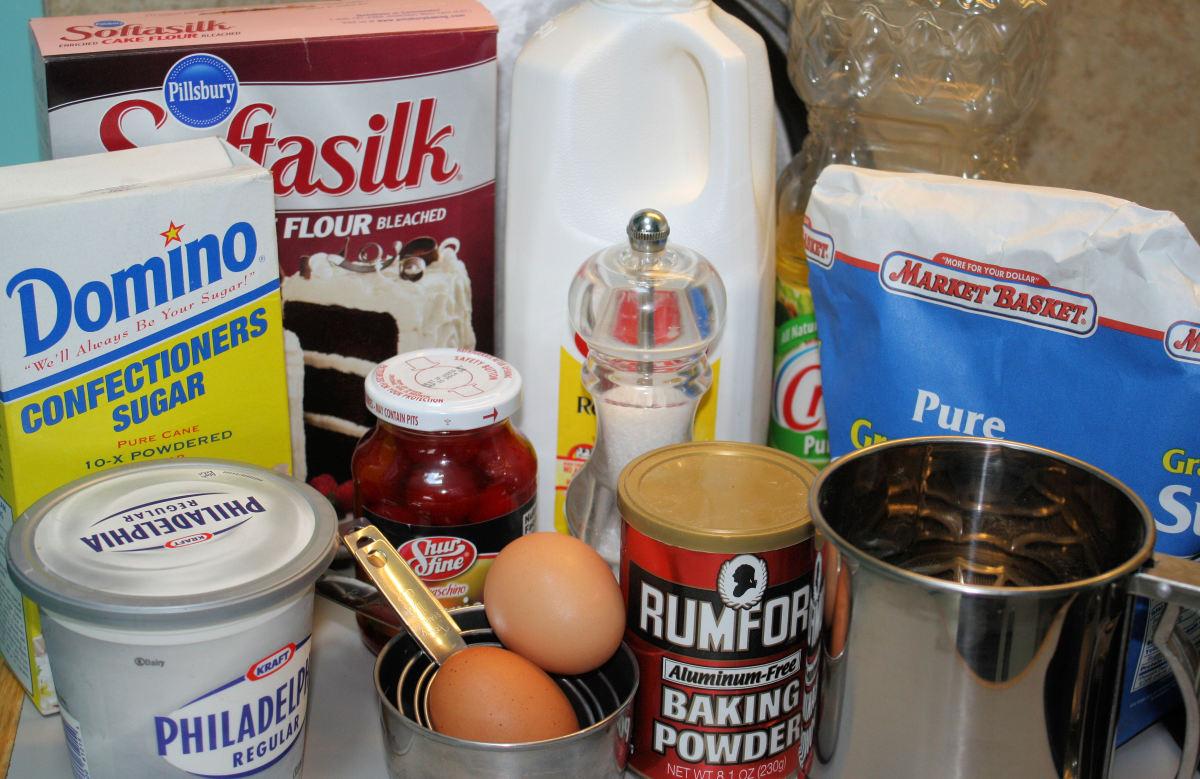 Maraschino Cherry Cake Ingredients