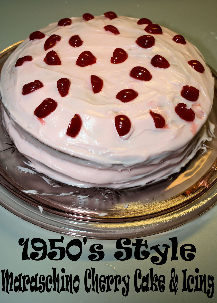 1950s Style Maraschino Cherry Cake