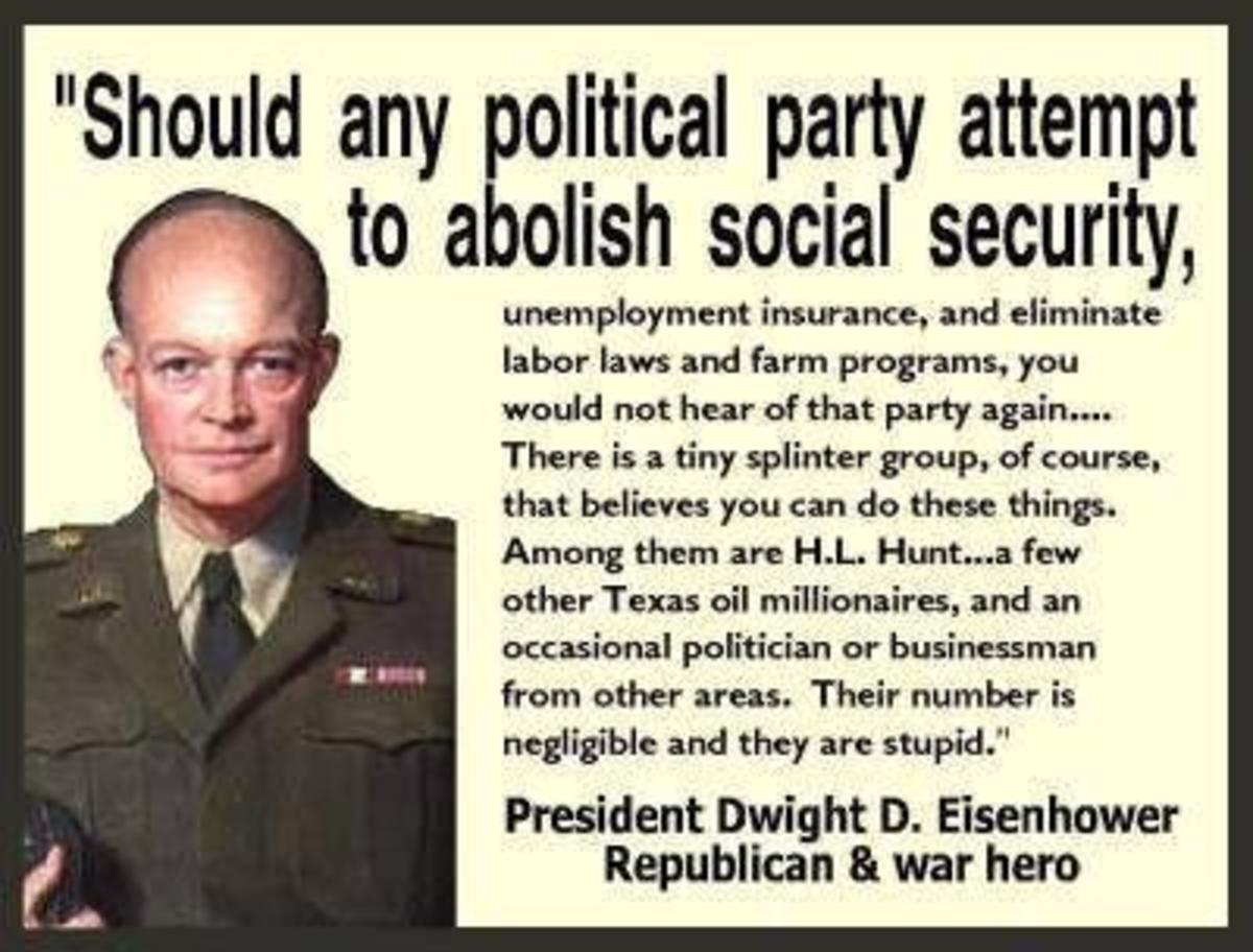 Dwight D. Eisenhower, One (1) descent Republican, but not a Tea Party one.
