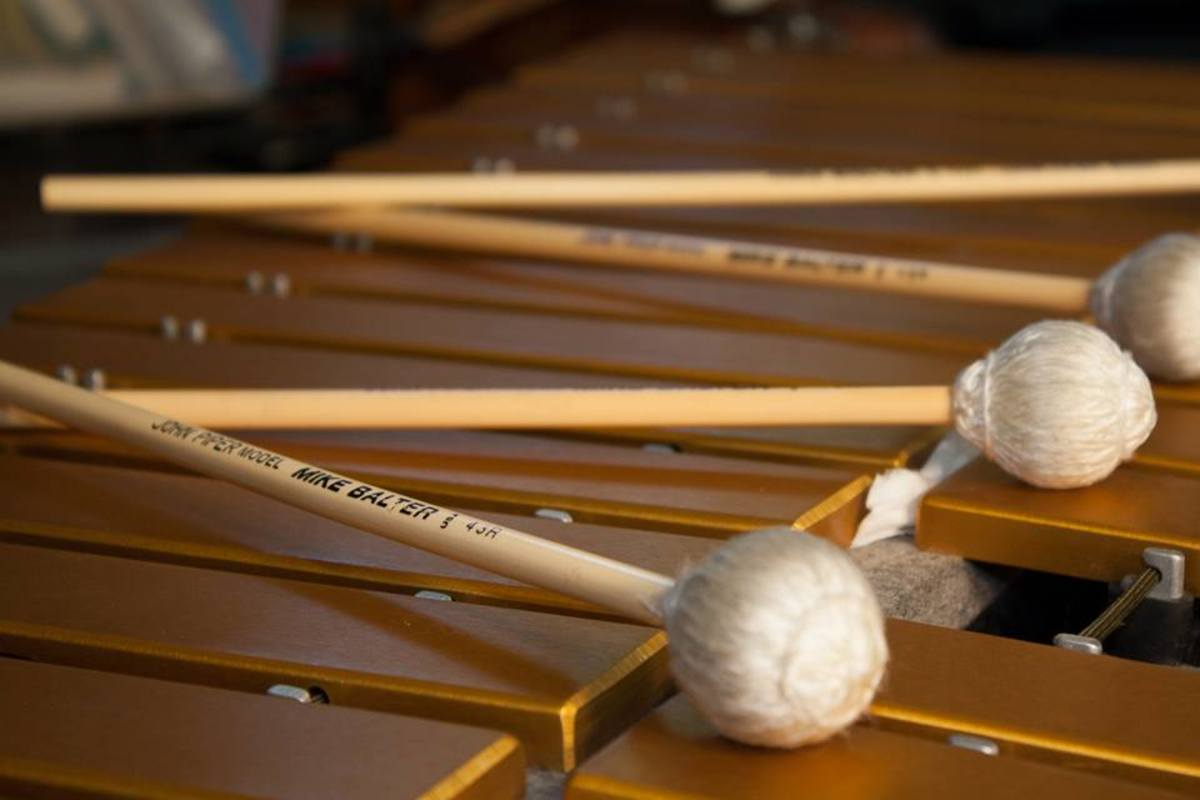 Vibraphone and Mike Balter mallets from the studio of Steve Raybine