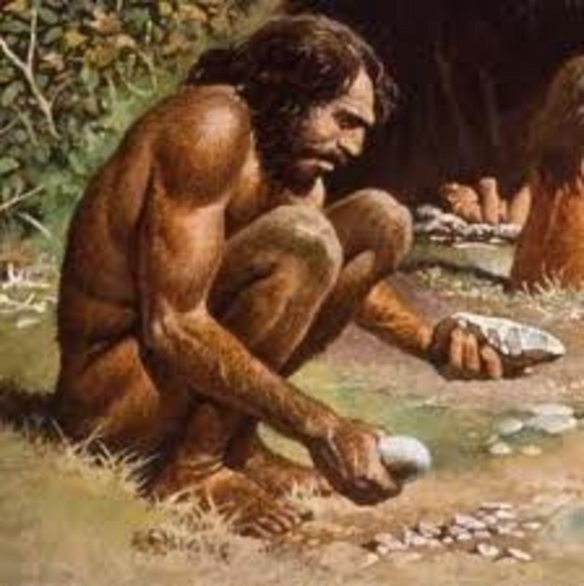 Prehistoric man did it....