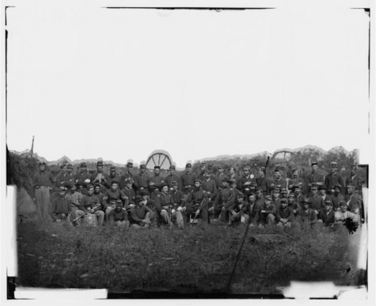 An infantry Company of the 93rd Regiment, New York Volunteers