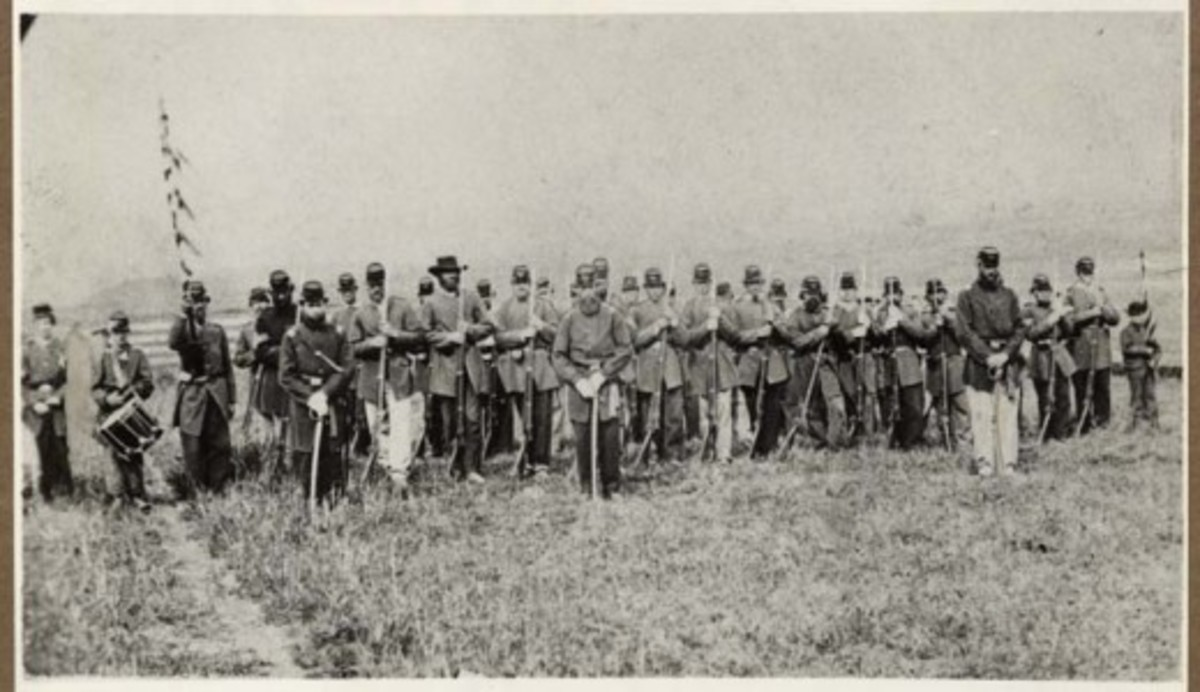 An infantry Company of the California Volunteers