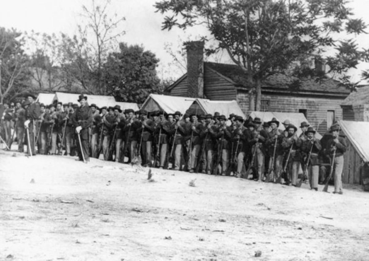 An infantry Company standing at Rest
