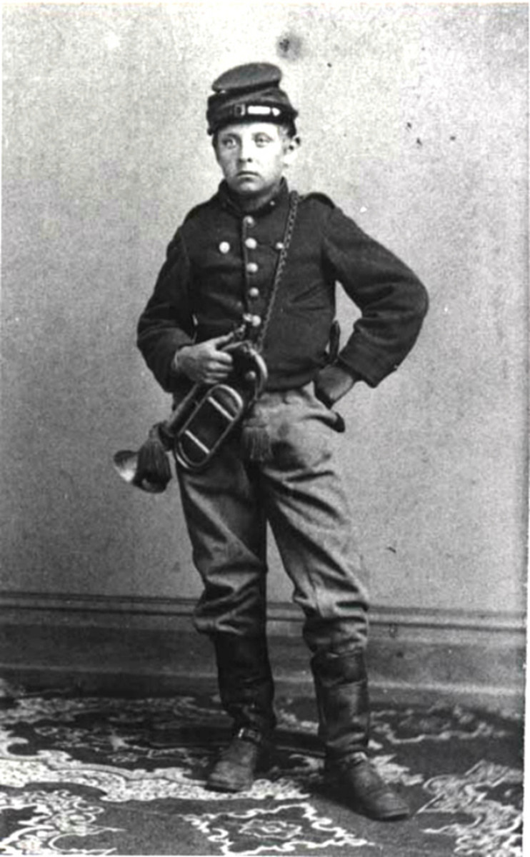A Bugler, which often supplanted the Fifer in the Company's Field Music