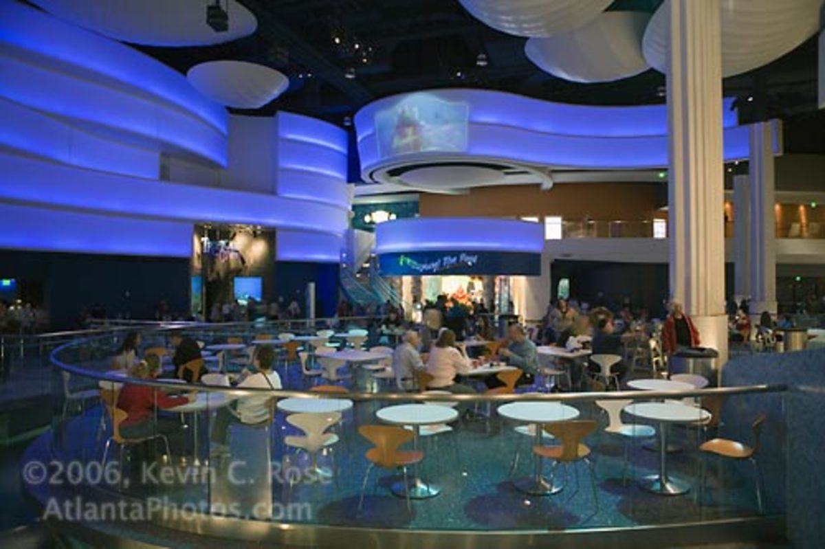 Small, but nice looking cafeteria