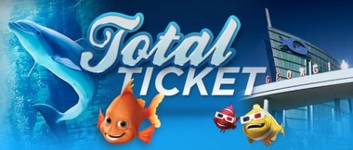 An example of Georgia Aquarium entrance ticket